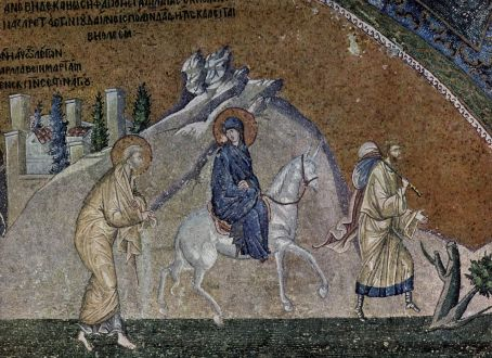 Journey to Bethlehem, mosaic