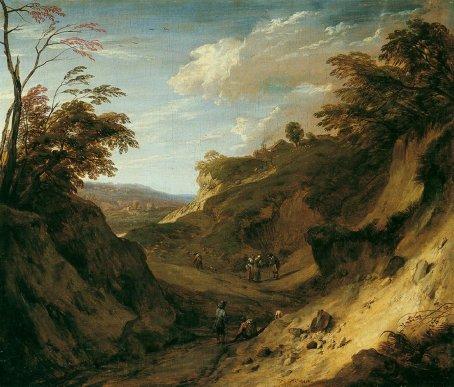 Cornelis_Huysmans_-_Hilly_Forest_Landscape